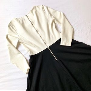 Banana Republic Dresses - BANANA REPUBLIC COLORBLOCK ZIPPER SKATER DRESS